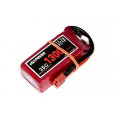 Аккумулятор AGA POWER Li-Po 1300mAh 11.1V 3S 25C Softcase 24x35x68мм T-Plug